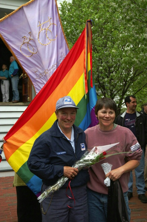 First day of legal gay marriages in P'town Ma