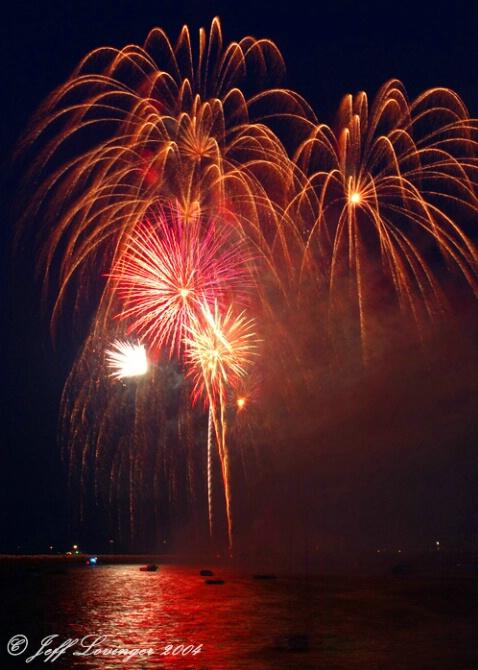 Fireworks over Provincetown Harbor