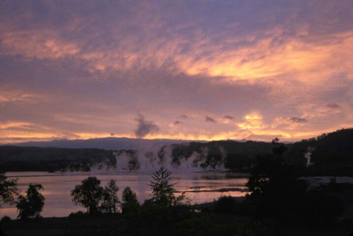 Thermal Geysers at Dawn