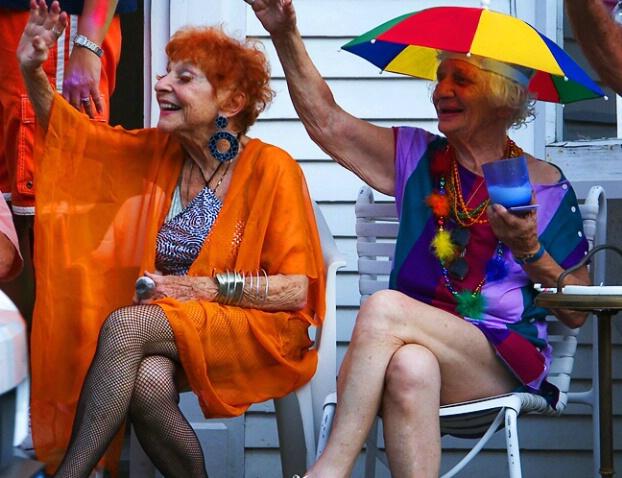 Provincetown Carnival Parade, Ilona and Karen