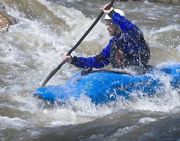 Kayaker on the Kern River