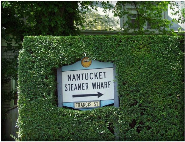 Nantucket Hedge Sign #207