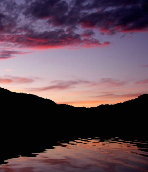 Wannucut Lake at Sunset, WA