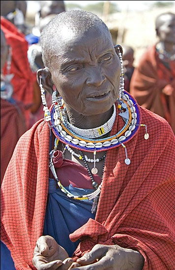 Masai Villager in the Masai Mara