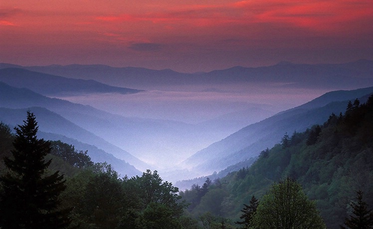 Oconoluftee Overlook--Great Smoky Mountain NP