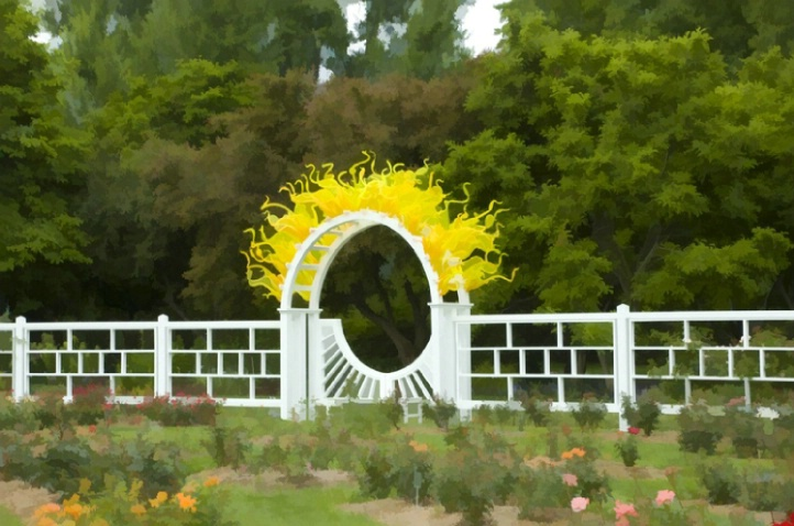 Chihuly around the Rose Gardens