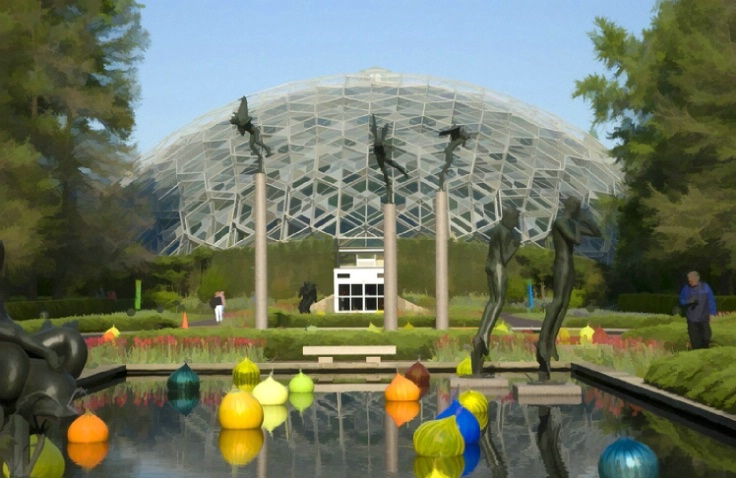 Climatron with Chihuly Exhibit