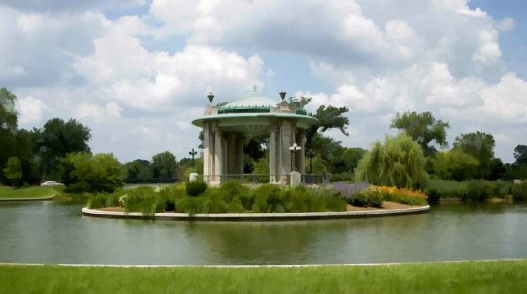 Gazebo in front of the Muni Opera in Forest Park