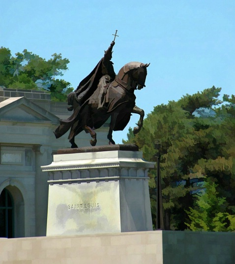 Saint Louis Statue in front of Art Museum