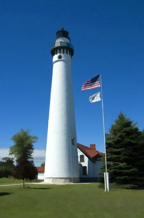 Lighthouse in Racine, Wisconsin