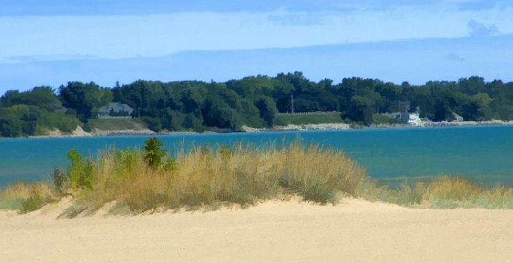 Shoreline view at the Dunes in Door County WI