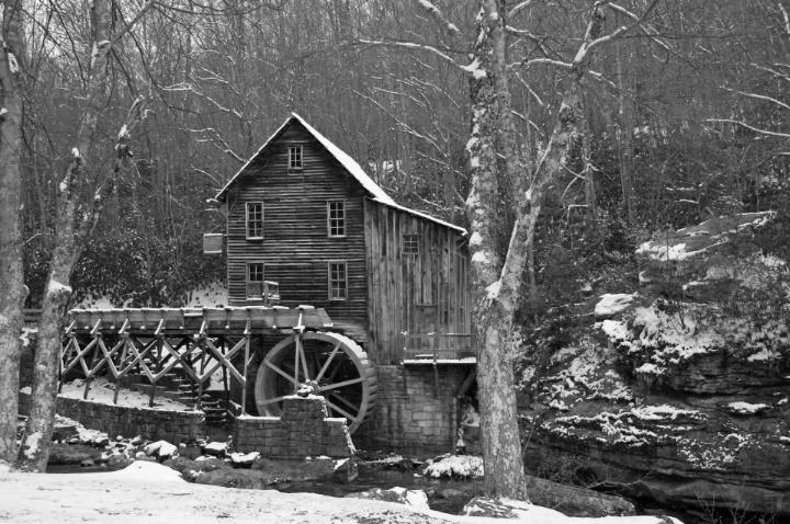 Mill in B&W