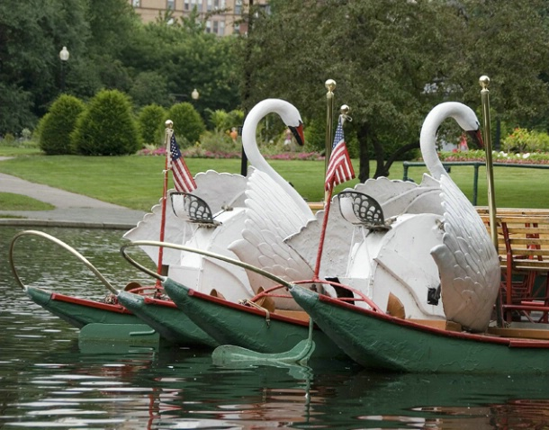 O39 Swan Boats in Boston Commons,Boston,MA