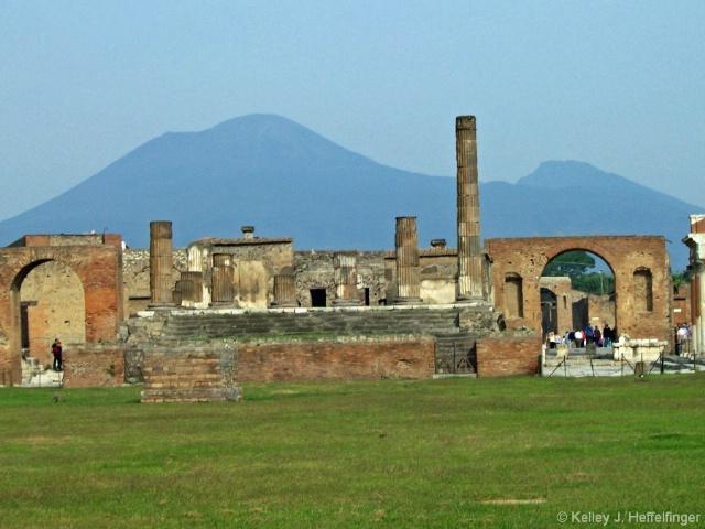Forum of Pompeii and Mount Vesuvius