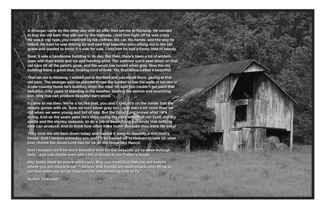 Old Barn Poem