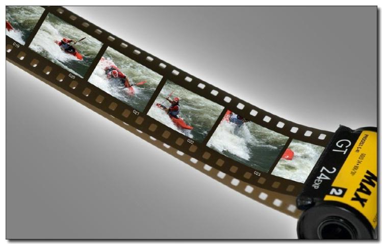 Kayaker on Film