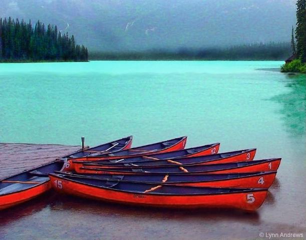 Three in a Row on Emerald Lake