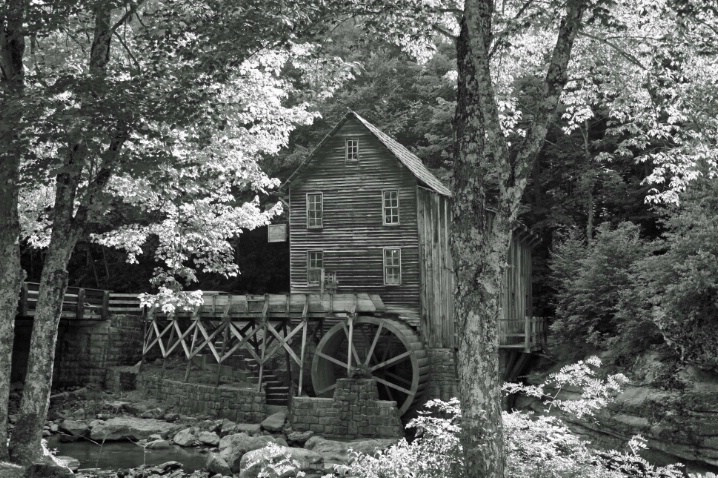 Babcock Grist Mill in B&W