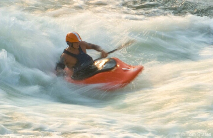 Kayaker on the Move