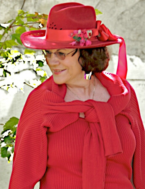 Red Hat Lady, Frances my wife