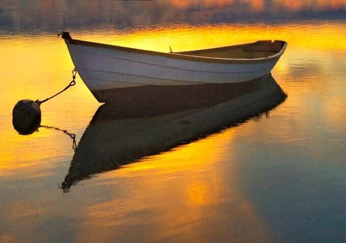 Sunset skiff