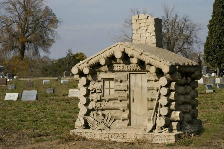 Log Cabin, Riverside Cemetery, Colorado