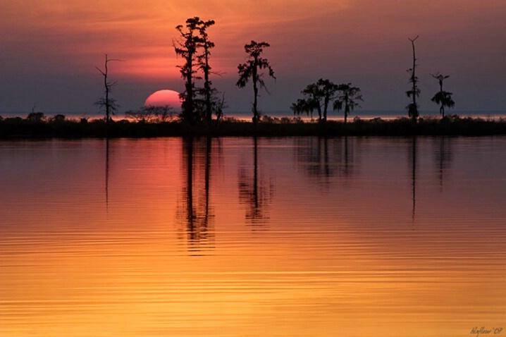 Sunset on Lake Maurepas