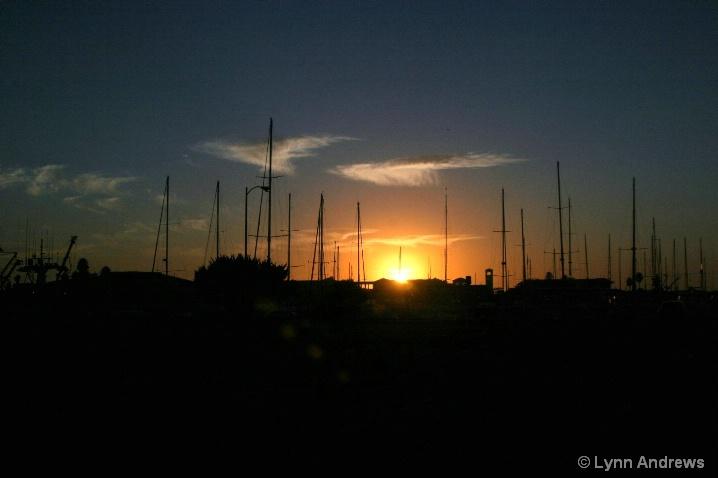 Sunset at Ventura marina