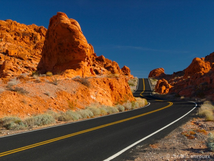 Red Rock and Black Ribbon