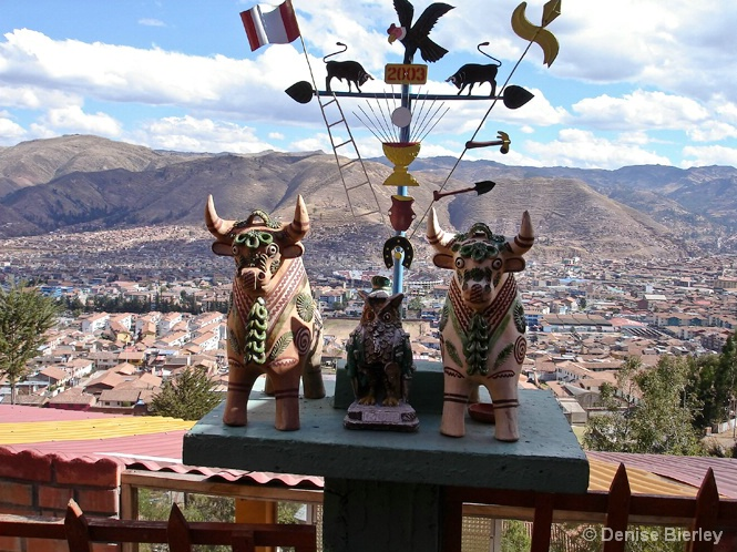 View above Cusco