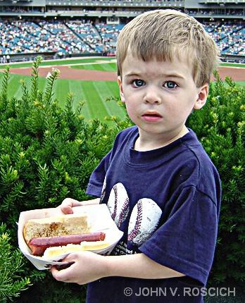 Hot Dog, Baseball, Dad and Me.