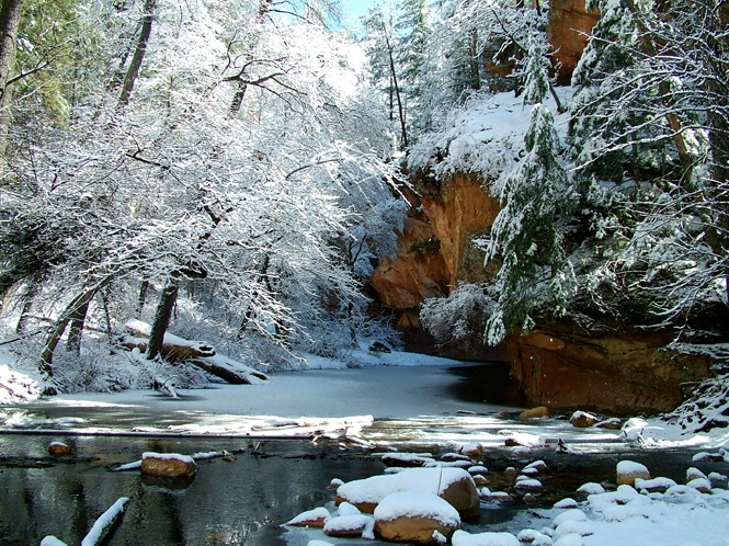 Sedona West Fork After Snow