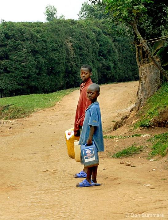 Fetching Water, Butare, Rwanda 2007