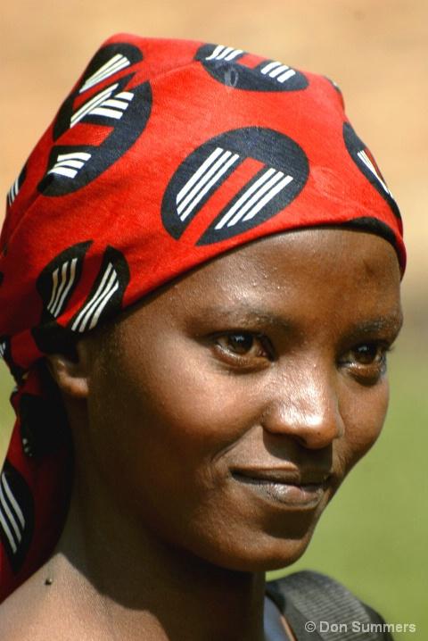 Young Mother At AMA, Butare, Rwanda 2007