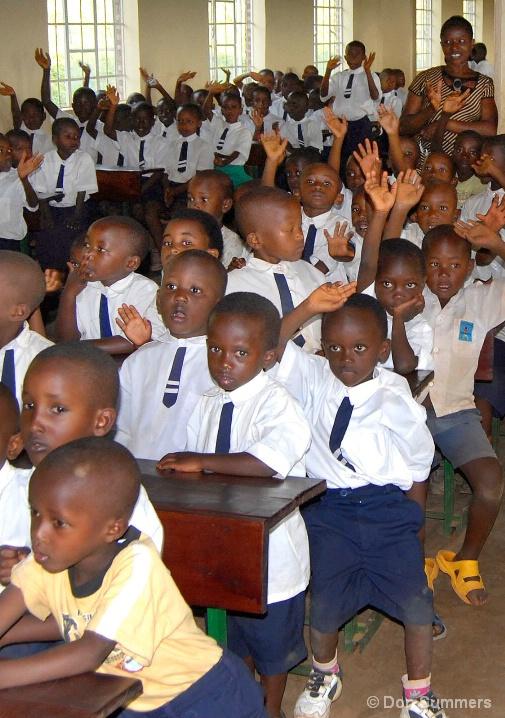 School Assembly In Butare, Rwanda 2007
