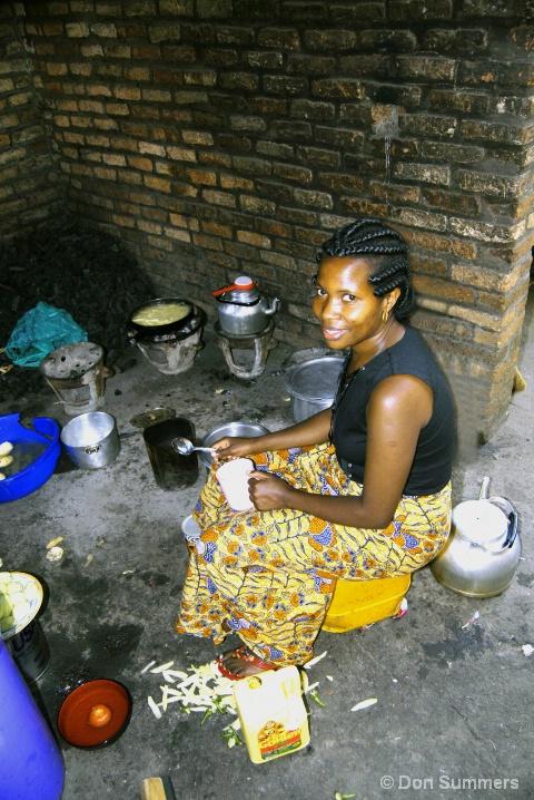 In Her Kitchen, Butare, Rwanda 2007