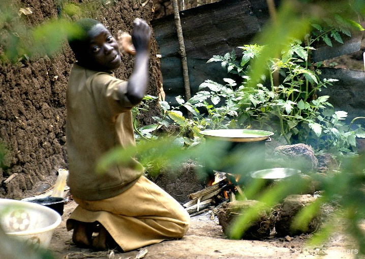 Preparing Lunch, Butare, Rwanda 2007