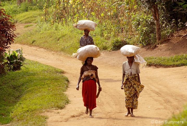 Carrying The Food, Butare, Rwanda 2007