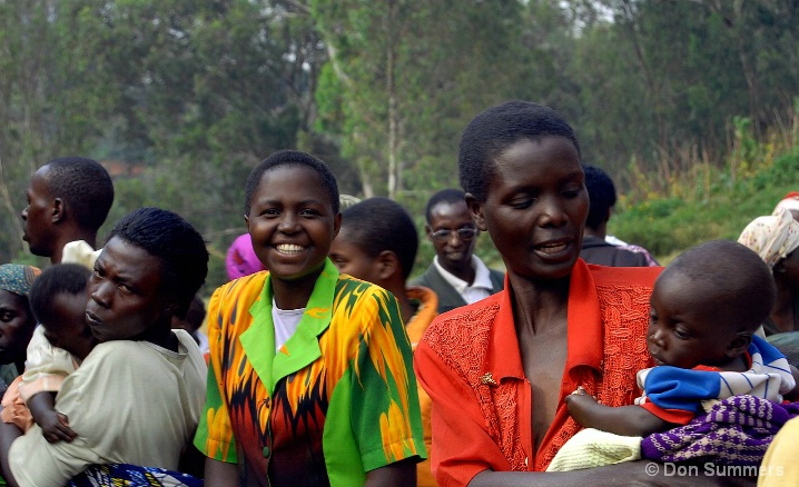 Women Waiting For Food, Butare, Rwanda 2007
