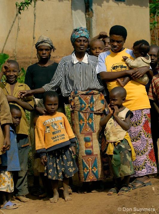 Matriarch With Family, Butare, Rwanda 2007