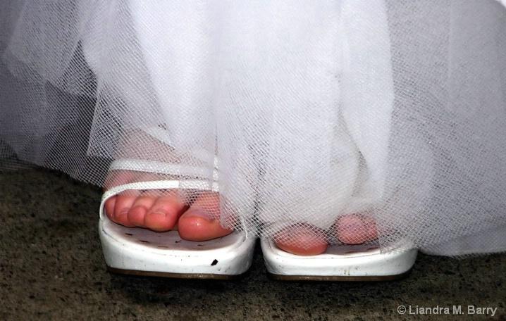 Wet bridal toes
