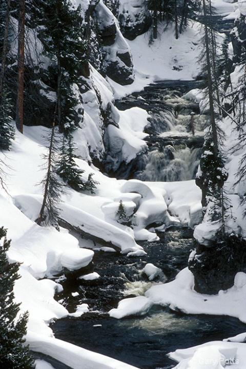 Icy Waterfall--Yellowstone