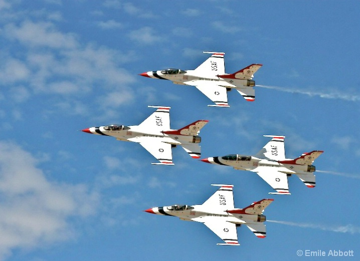 Diamond Combat Formation by Thunderbirds