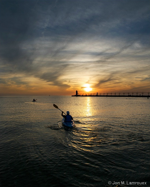 Paddling into the Evening