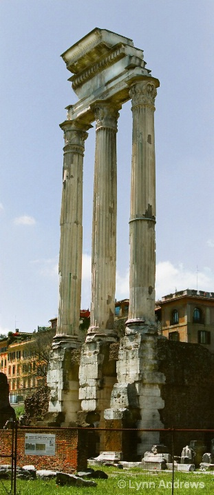 Ruins of the Temple of Pollux and Castor