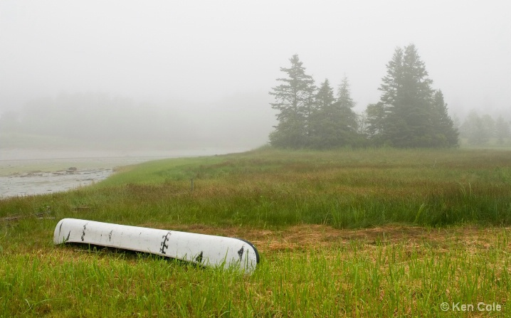 Canoe in Fog