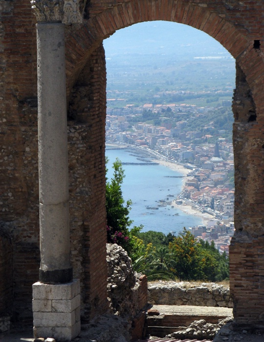 Taormina from Greek Theater