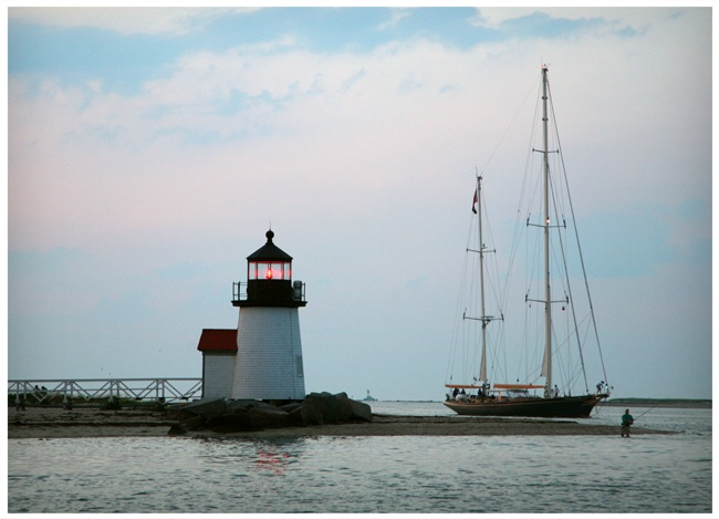 Lighthouse and Boat  #274