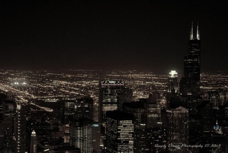 Night Skyline in Chicago, IL