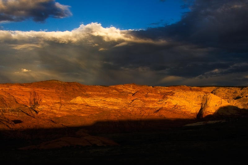 Dramatic Sunrise, Snow Canyon